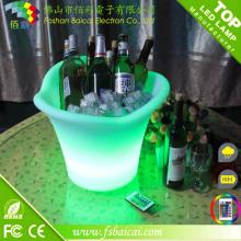 Seau à glace en plastique LED