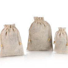 Factory supply nature color linen tote bag