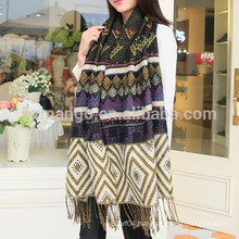Wholesales national flavor Bohemia reversible jacquard stoles