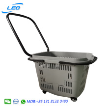 Best price plastic shopping basket shopping cart for shopping mall and super market