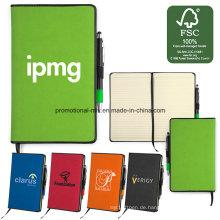 Fsc Certificated Paper Notebooks Sets mit Stifthalter / Lesezeichen / Kugelschreiber