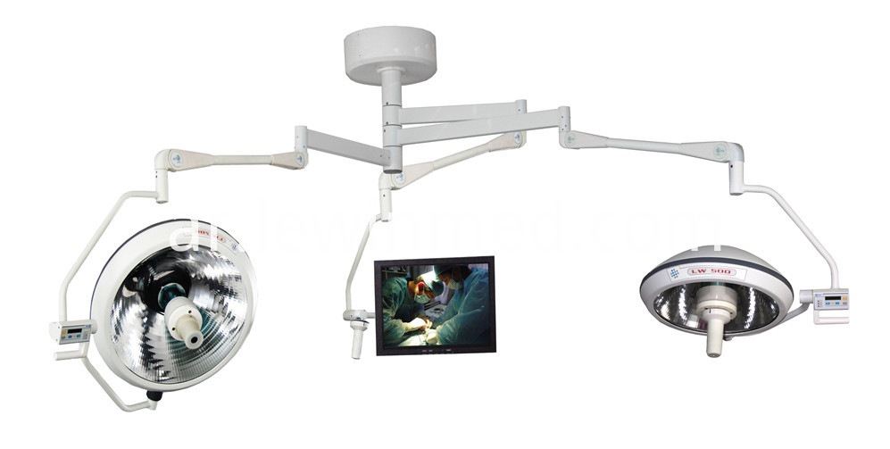 Medical equipment light with camera system