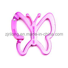 Aluminum Butterfly Shape Carabiners Spring Snap Clip Hook