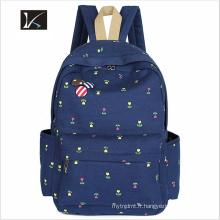 Meilleure vente personnalisé polyester imperméable étudiant sac à dos sac d'école / école sac à dos / enfants sac d'école