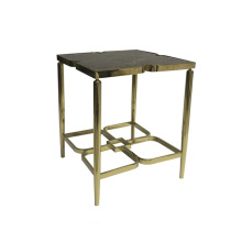 North-European brassy stainless steel side table