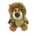 Bufanda que lleva del león de la felpa