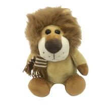 Plush Lion Wearing Scarf