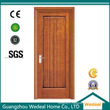Porte en bois composite d'intérieur de PVC de Prehung pour l'hôtel / villa