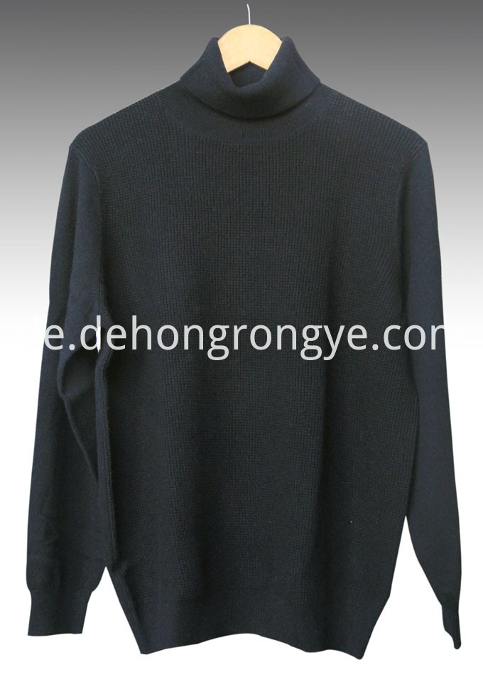 Black High Necked Cashmere Men S Sweater