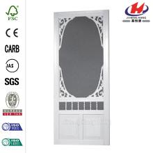 Solid Vinyl White Screen Door