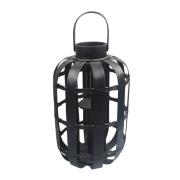 Lanterna cilíndrica de bambu preto