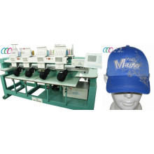 4 cabezales 1000 SPM equipo tubular computarizado del bordado para el casquillo / la camisa, 110V / 220V