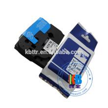 Compatível preto na fita de rótulo laminado transparente tz-151 24mm