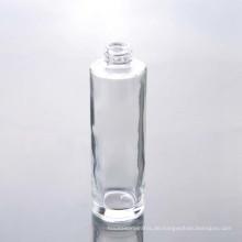 3oz Runde geformte leere klare Glas Lotion Flasche