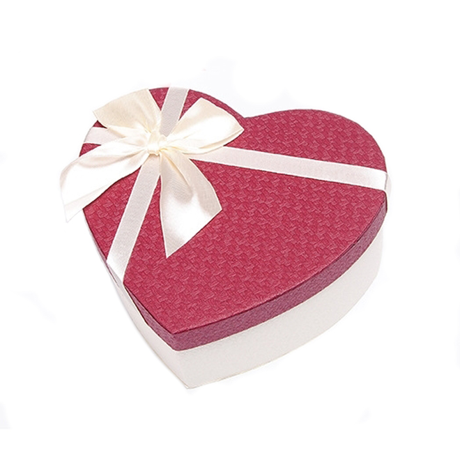 Paper Heart Shape Gift Box With Ribbon