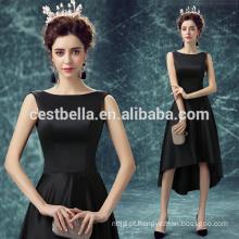 Fábrica de roupas por atacado Vestido de festa preto elegante vestido formal de noite
