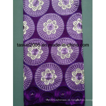 100% Baumwolle Heavy Swiss Voile Lace / Afrikanische Big Swiss Lace / Heavy African Laces.