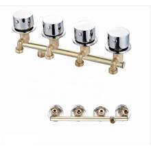 Manufacturer wholesale 4 Function brass mixer shower conjoined faucets mixers taps faucet