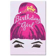 Cartão de aniversário de dia fabuloso personalizado para ela com Glitter