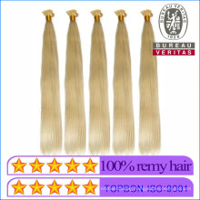 Human Virgin Hair 613# Blonde Color 18inch Size 100g Weight Flat Tip Hair Extension Remy Hair Grade