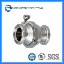 Válvula de retenção sanitária de aço inoxidável de grau alimentar
