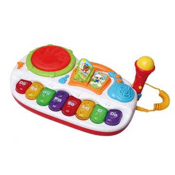 Brinquedo elétrico da música do brinquedo com microfone (H0001222)