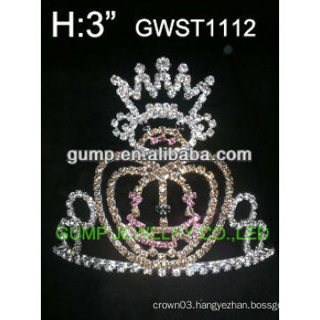 Halloween pumpkin crystal crown -GWST1112