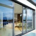 Hot novos produtos laminados vidro duplo à prova de tempestade portas de entrada do hotel