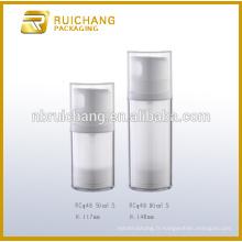 50ml / 80ml double bouteille étanche cosmétiques sans air, bouteille sans air pour nettoyant pour le visage