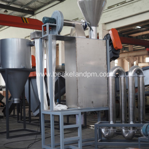 Zig zag air classifier machine for pet recycling