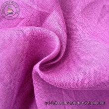 100% de lino teñido de tela de la camisa (QF13-0246)