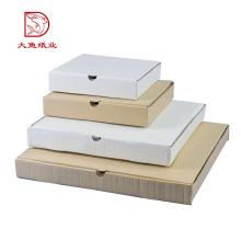 Cajas de regalo de paquete plano blanco de papel corrugado de logotipo personalizado