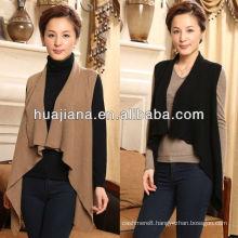 stylish irregular women's cashmere poncho vest