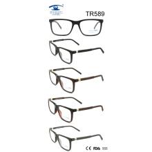 Lunettes de cadre optique brillantes Tr90 (TR589)