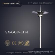 Precios de 1000W HPS 35m acero Pole High Mast Iluminación