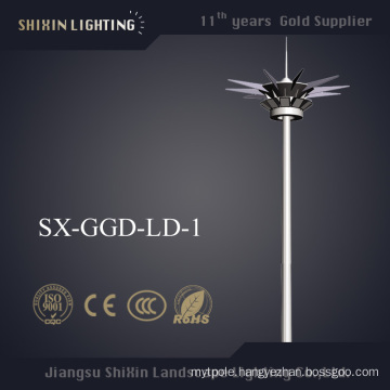 Prices of 1000W HPS 35m Steel Pole High Mast Lighting