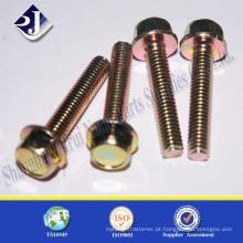 Melhor Brinco de flange DIN 6921 revestido de zinco amarelo em baixo preço