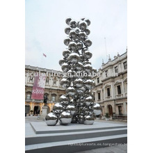 Escultura al aire libre de acero inoxidable