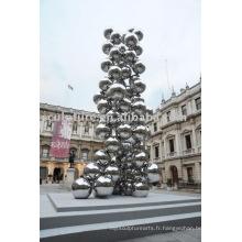 Sculpture extérieure en acier inoxydable