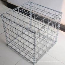 Anping proveedor 0.5m * 0.5m * 0.3m soldado ronda gabion malla pvc recubierto caja / jaulas galvanizadas gabion