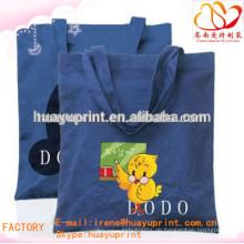 Ecol organische Baumwoll-Einkaufstasche / kundengebundener gedruckter kleiner Baumwollbeutel AT-1037