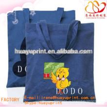 Ecol сумка для покупок из органического хлопка / индивидуальный печатный мешочек из хлопка AT-1037