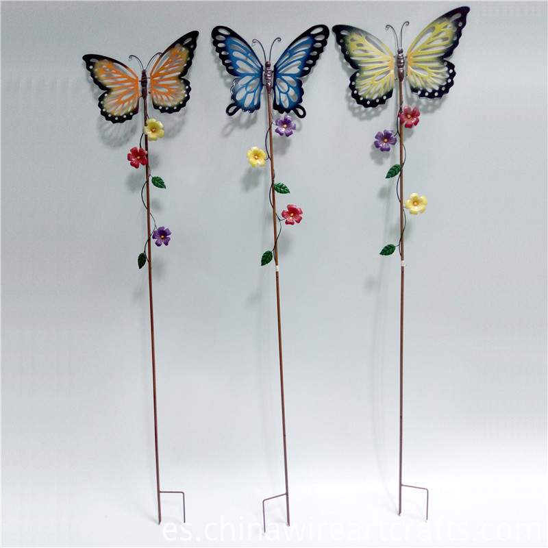Metal Butterfly Garden Stakes