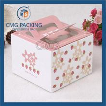 PVC Window Butterfly Cardboard Carried Cake Box (CMG-cake box-006)