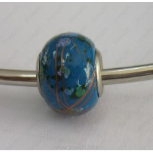 Blue Pandora Hematite Beads