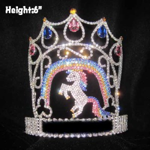 Crystal Unique Unicorn Pageant Queen Crowns