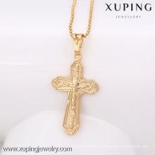 32444 Xuping novo projetado banhado a ouro pingente de cruz