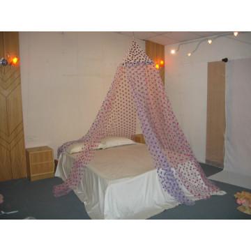 Три цвета Flocking Dots Square Top Umbrella Mosquito Net