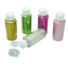 glitter mit Flasche