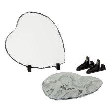 Polished Surface Blank Heart Photo Rock Slate